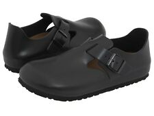 Men's Birkenstock Clogs London Hunter Black Leather