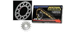Renthal O Ring Chain And Sil Sprocket Kit CR CRF 125/250/450/500 R X Motocross