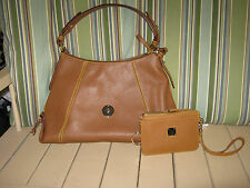 NWT Dooney & Bourke Leather Satchel East West Slouch Handbag w/ Wristlet