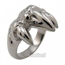 Men's Silver Dragon Claw Stainless Steel Ring US Size 9, 10, 11, 12