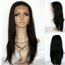 "New fashion full Lace Wig Malaysia YAKI Straight HUMAN HAIR Indian Remy 8""- 22"""