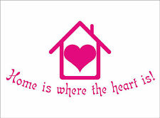 HOME IS WHERE THE HEART IS Quote sticker decal vinyl wall art decoration HH3