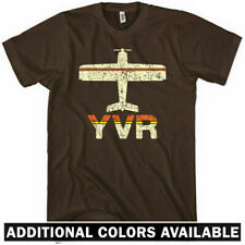 FLY VANCOUVER T-shirt - YVR Airport - Van City BC Canada Travel 604 - NEW XS-4XL
