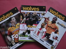 2010/11 - WOLVES HOME PROGRAMMES CHOOSE FROM (2011)