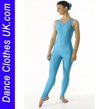 Turquoise Blue Spandex/Lycra Dance Catsuit~Perfect Barbie Fancy Dress Costume