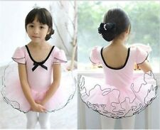pink children kids Girls New Party Leotard Ballet Tutu Dress 3-8 yrs