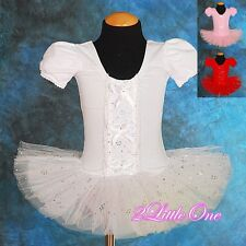 Girl Ballet Tutu Dance Costume Fairy Fancy Dress Leotard Toddler 2T-5 BA020
