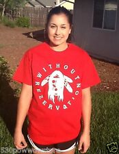 WITHOUT REZERVATION native american indian rap hip hop pow wow pride rez t-shirt