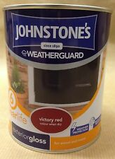Johnstones Weatherguard  Exterior Gloss Paint for wood & metal 750ml