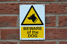 Beware Of The Dog Warning Caution Security A5 Sticker, Plastic and Drilled Sign