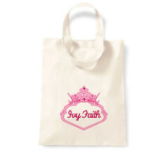 PERSONALISED Name Favour Party Gift Canvas Tote Bag | Princess