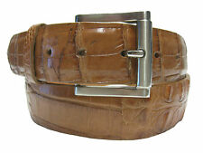 GENUINE COGNAC BROWN AMERICAN ALLIGATOR BELT FOR BOOTS AND SHOES WESTERN COWBOY
