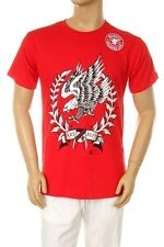 Men's Printed American Flying Eagle Graphic Design Cotton Red T-shirt all size