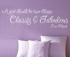 Wall Decal Sticker Quote Vinyl Art Lettering Letter Coco Chanel Girl's Room J59