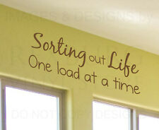 Wall Decal Quote Sticker Vinyl Art Lettering Sorting Out Life Laundry Room LA07