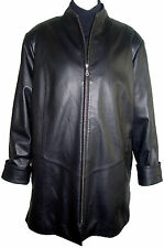 FREE tailoring, 5001Soft Lambskin Leather Swing Coat Zip Out Real Fur Liner