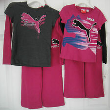 PUMA NWT 2PC Outfit Pullover Top Shirt Roll Waist Pant Warm Up Track Suit RV$62