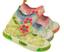INFANT TODDLER GIRLS CANVAS GLITTOR SHOES SIZE UK 3-11 (19-30)