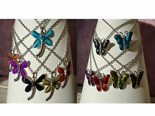 Wholesale & Job Lots 6 x Beautiful Dragonfly or Butterfly Pendants In 6 Colours
