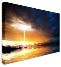 Nuclear Sunset Canvas Prints Wall Art Picture Large Any Size