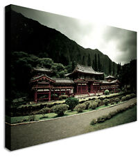 Japanese Prayer Temple Canvas Prints Wall Art Picture Large Any Size