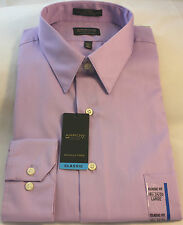 New Men's Arrow Sateen Purple/Lilac Classic Fit Dress Shirt - Wrinkle Free - $45