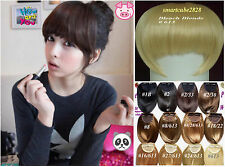 12 Color Clip in Bangs Fringe Hair Extension~Black Chestnut Brown Blonde Mix 613