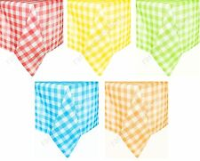 GINGHAM COTTON CHECK TABLE CLOTH COVER RED LIME GREEN ORANGE YELLOW CUSTOM SIZES