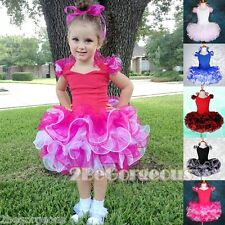 Girl Party Costume Dance Occasion Cupcake Dress 12 Months - 10 Years Size PT002