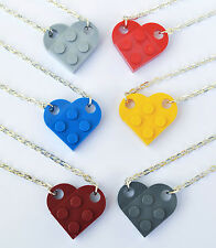 LEGO® LOVE HEART NECKLACE 18 INCH GIRLFRIEND BEST FRIEND WEDDING GIFT PRESENT