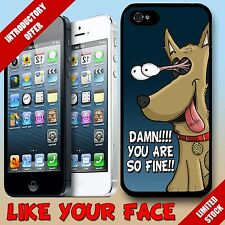 Funny cheeky puppy dog love cartoon & saying hard Phone Case Cover for iphone 5