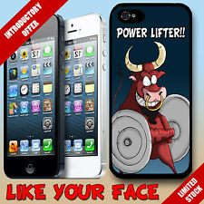 Funny cartoon Bull minatour weight lifting saying Phone Case Cover for iphone 5