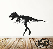 "Wall Decal Sticker Removable T REX  dinosaur 46"" tall 76""wide in white or black"