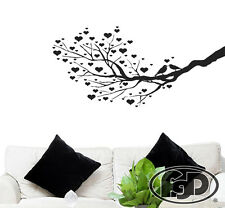 "Wall Decal Sticker Removable Love tree Hearts & tree in white or black 23""x49.5"""