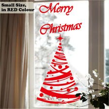 STr6 Polka Dot Christmas Tree Star Sticker Shop Window Wall Art Decoration Decal