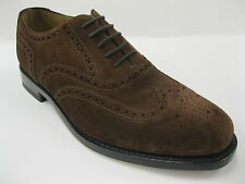 Mens Loake Brogue Shoes. Style-202Ds. Colour-Brown Suede. Lace Up. Fitting-G.