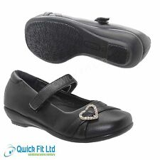 GIRLS BACK TO SCHOOL SHOES BLACK FORMAL PARTY EVENING CASUAL GIRLS KIDS SHOES