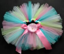 rainbow Party Costume Ballet Dancing Girl toddler child Baby Tutu Skirt O-5Yrs