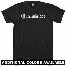 QUEENSBRIDGE T-shirt - Gothic - Queens New York City NYC 718 - NEW XS-4XL