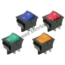 On-Off Momentary/Latching 4 Pins 2Circuits Rocker Switch 15A 250VAC colour/Light
