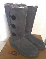 100% Original UGG AUSTRALIA BOOTS BAILEY BUTTON TRIPLET Grey
