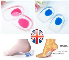 GEL PAINFUL Heel SUPPORT Cup, Heel Spur, Plantar Fasciitis, Insole 2 sizes, PAIR
