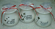 1-Burners/Warmers~Ceramic~3-Sayings~To Choose From~Burners~Wrapped/Bow~FREE Tea