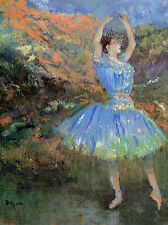 """Blue Dancer, Degas""  CANVAS or PRINT WALL ART"
