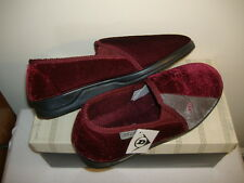 Mens Dunlop Grey And Burgundy Slippers