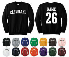 City of Cleveland Adult Crewneck Sweatshirt Personalized Custom Name & Number
