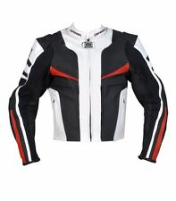 Motorcycle Leather Jacket CE Protection Motorbike Biker Cropped Mens Spider