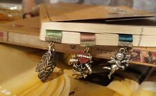 New Arrival Ribbon BookMark Decorations leaves Crown Skull Pandent Bookmarks
