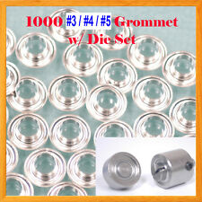 1000 pcs  #3 #4 #5 Grommet w/ Die Set Eyelet Grommets Machine Sign Punch Tool