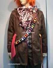 exact Mad Hatter trench COAT Jacket Alice Wonderland Costume + Free Bird Patch